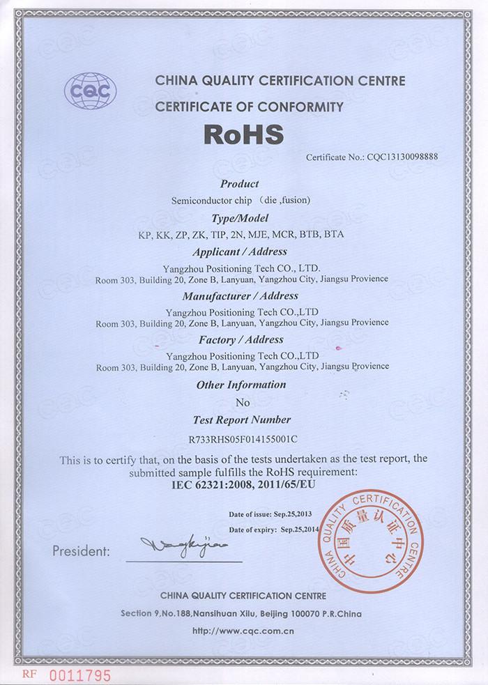 Location ROHS Certificate