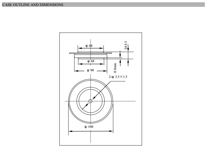 Positioning rectifier diode specifications for TV-2