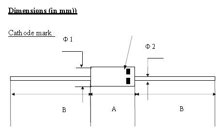 Positioning electrical diode types for TV-1