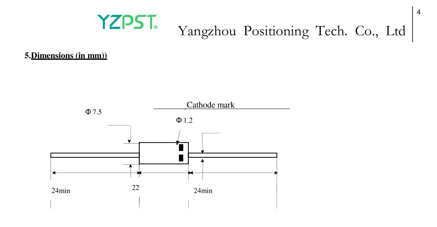 Positioning good electric diode details for gate