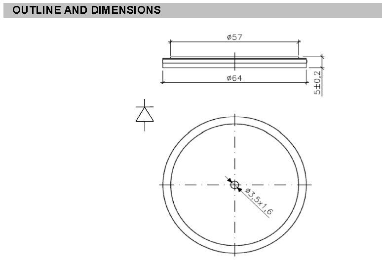 Positioning good electrical diode details for gate