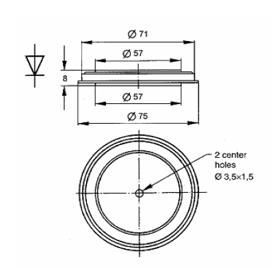 Positioning electrical diode types for TV-3