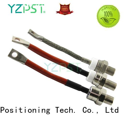 Positioning fast stud thyristor information for electronics