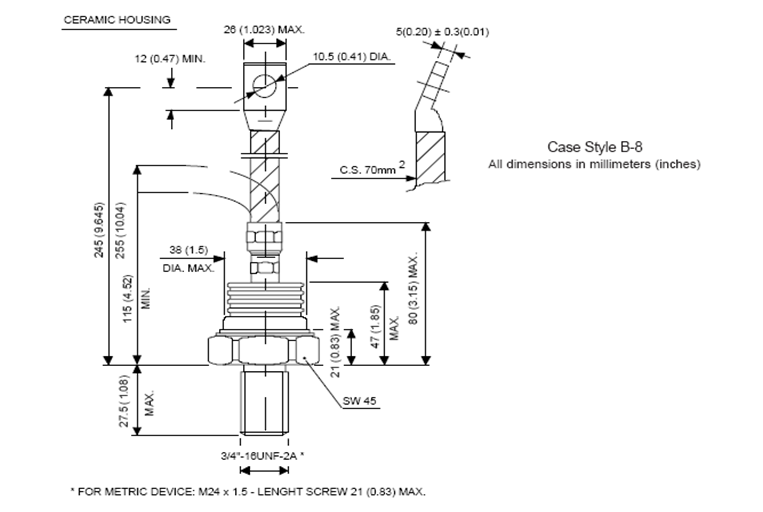 Positioning small fast stud thyristor information for parallel-3