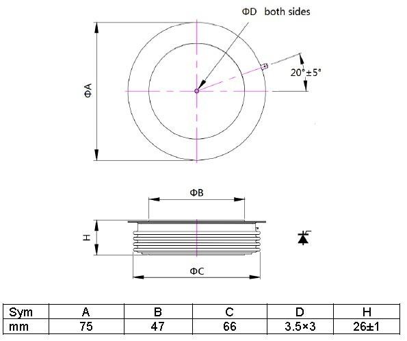 Positioning inverter thyristor online for audio amplifier